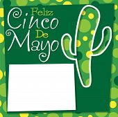 pic of spiky plants  - Cinco De Mayo Cactus Card In Vector Format - JPG