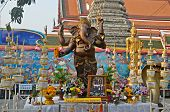 Ganesha Statue And Offerings