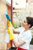Cleaning lady working