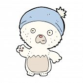 cartoon cute teddy bear in hat