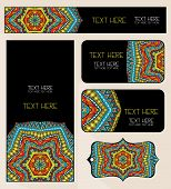 Branding Design Ethnic Pattern Set