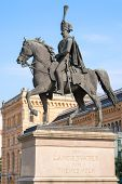 Statue Of Ernest Augustus I In Front Of The Hannover Central Station