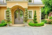 Luxury House Exterior. Front Door