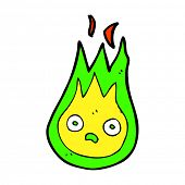 image of fireball  - cartoon fireball - JPG