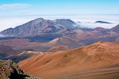 Haleakala Volcano Crater in Haleakala National Park, Hawaii