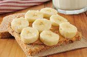 Peanut Butter And Banana Sandwich