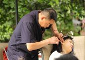 Ear wax cleaning in Chengdu China