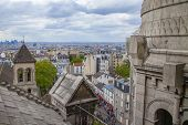 Paris, France. View of the hillside of Montmartre with Sacre Coeur