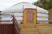 stock photo of yurt  - Yurt - JPG