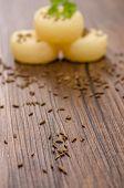 Caraway Seeds On Wood