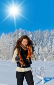Outdoor Season Fashion Beauty in warm clothes
