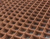 stock photo of reinforcing  - This is steel nett reinforcement for construction - JPG