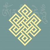 Endless Knot,one Of Eight Auspicious Buddhist Religious Symbols, Vector Illustration