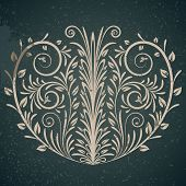 Vintage floral elements design. Rasterized Copy