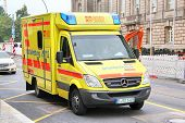 stock photo of ambulance car  - BERLIN GERMANY  - JPG