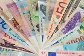 stock photo of hungarian  - Different banknotes - JPG