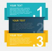 Vector colorful text boxes, options banner