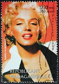 Marilyn Stamp From Madagascar-7
