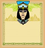 picture of cleopatra  - Egyptian queen Cleopatra portrait frame  - JPG