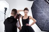 image of flesh  - Professional fashion photography in studio with softboxes - JPG