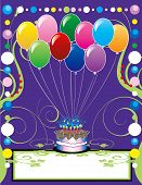 stock photo of birthday party  - This can be used as a book cover invitation card or anything you choose - JPG