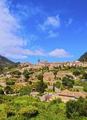 foto of chopin  - View of Valldemossa on Mallorca Balearic Islands Spain - JPG