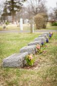 Headstones With Flowers