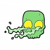 image of grossed out  - cartoon gross skull - JPG
