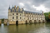 View At The West Side Chenonceau Chateau With River Cher