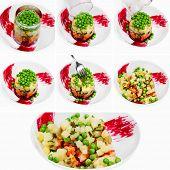 The Cooking Process Beet Salad, Russian Salad