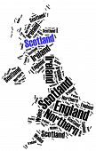 Word Cloud Illustration Related To Scotland
