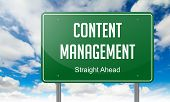 Content Management on Highway Signpost.