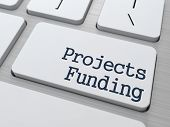 Projects Funding Button on Computer Keyboard.