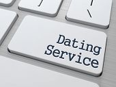 Dating Service Button on Computer Keyboard.