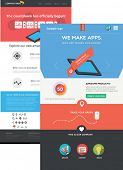 Flat designed web templates