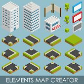 Isometric elements map creator