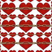 Chained Hearts Pattern
