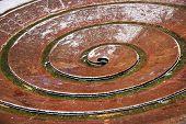 Spiral fountain of Koln, Germany, Europe