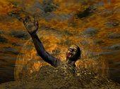 Zombie for Halloween - 3D render