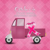 Pink Ribbon For Breast Cancer Prevention