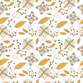 Floral seamless repeating pattern.
