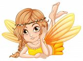 Illustration of a close up fairy
