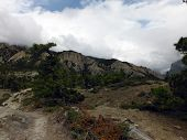 Deserted Scenery Of The Upper Himalayan Plains