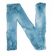 Watercolor vector capital letter N
