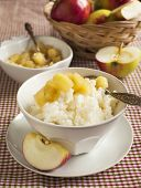 Creamy Rice Pudding With Apple Sauce