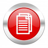 document red circle chrome web icon isolated