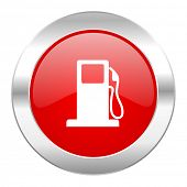 petrol red circle chrome web icon isolated
