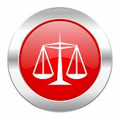 justice red circle chrome web icon isolated