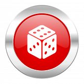 game red circle chrome web icon isolated