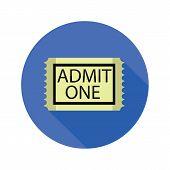 Cinema Ticket Flat Icon